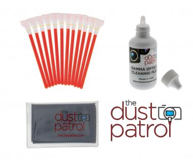 The Dust Patrol Sensor Cleaning Kit w. 12x Alpha Swabs APS-C + Gamma Sensor Fluid + Micro Fiber Cloth