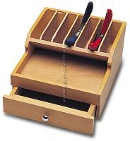 Pliers Rack, Wooden With Drawer