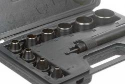 Leather Punch, 9pc w/Case  Center
