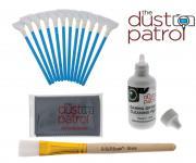 The Dust Patrol Kit mit 12x Alpha Swabs 20mm + Gamma Sensorreiniger + Mikrofasertuch + D-SLR Sensorspinsel